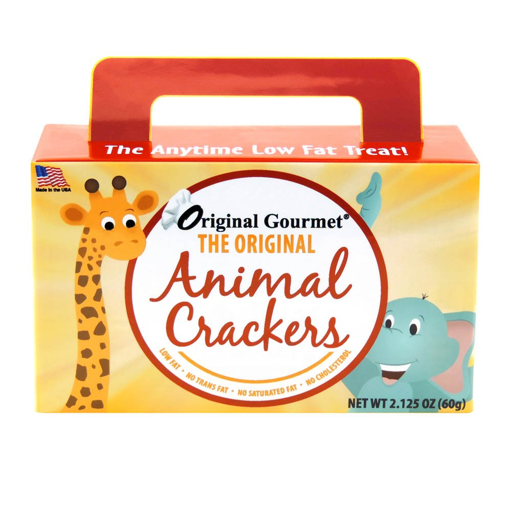 Original Gourmet Animal Cracker Box, 2 Ounce (Pack of 24) by Original Gourmet