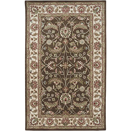 Surya Caesar CAE-1003 Classic Hand Tufted 100% Wool Coffee Bean 2' x 4' Hearth Traditional Accent Rug
