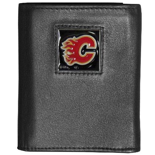 NHL Calgary Flames Genuine Leather Tri-Fold Wallet