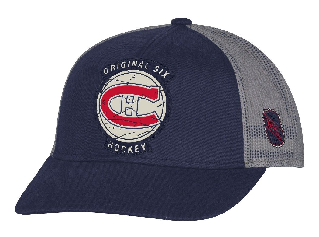 18d8d40353b26 Amazon.com   Montreal Canadiens CCM NHL Original 6 Structured Adjustable  Mesh Back Hat   Sports   Outdoors