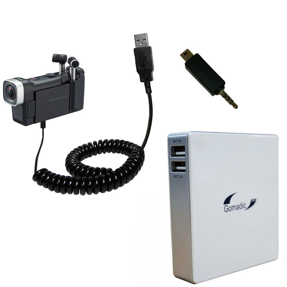 Gomadic High Capacity Rechargeable External Battery Pack suitable for the Zoom Q4n