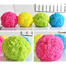 ElementDigital Robotic Microfiber Mop Ball Cleaning Ball Mini Automatic Vacuum Cleaner Cute Roll Ball Creative Automatic Rolling Furball Floor Cleaner Mini Sweeping Robot (Robotic Microfiber Mop)