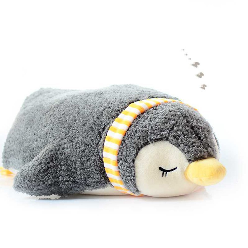 Levenkeness Penguin Hugging Pillow, Soft Scarf Sleeping Penguin Stuffed Animals Plush Toy Gifts 21.6''