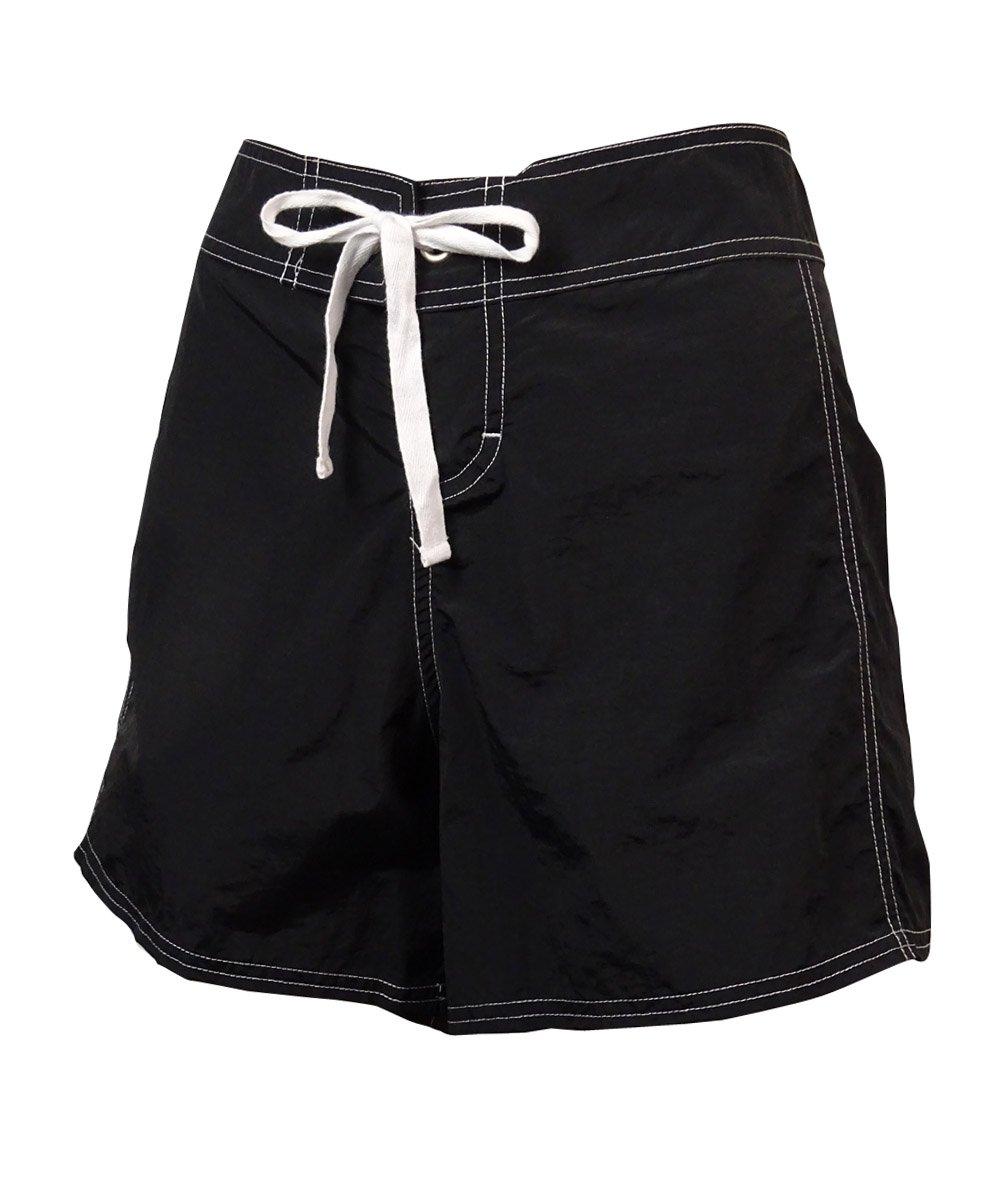 Tommy Bahama Women's Tie-Front Board Shorts (XS, Black)