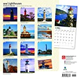 Lighthouses 2018 12 x 12 Inch Monthly Square Wall Calendar with Foil Stamped Cover, Ocean Sea Coast (Multilingual Edition)