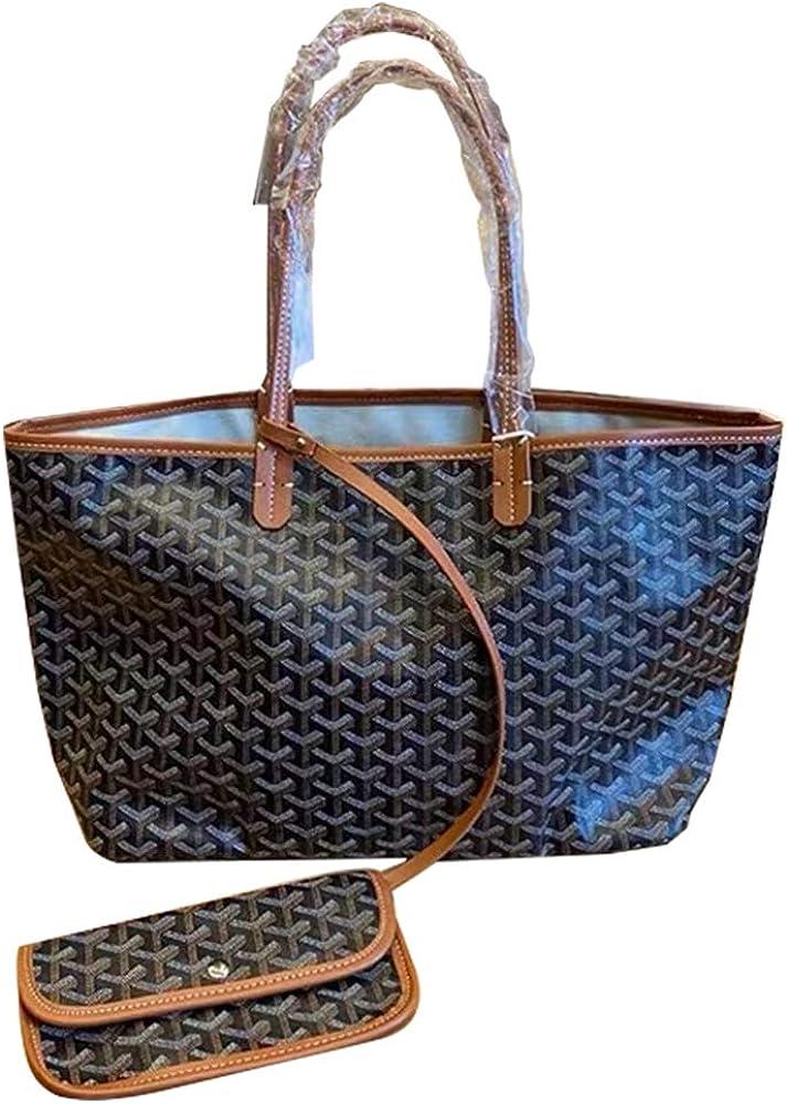 Women PU Leather Tote Bag...