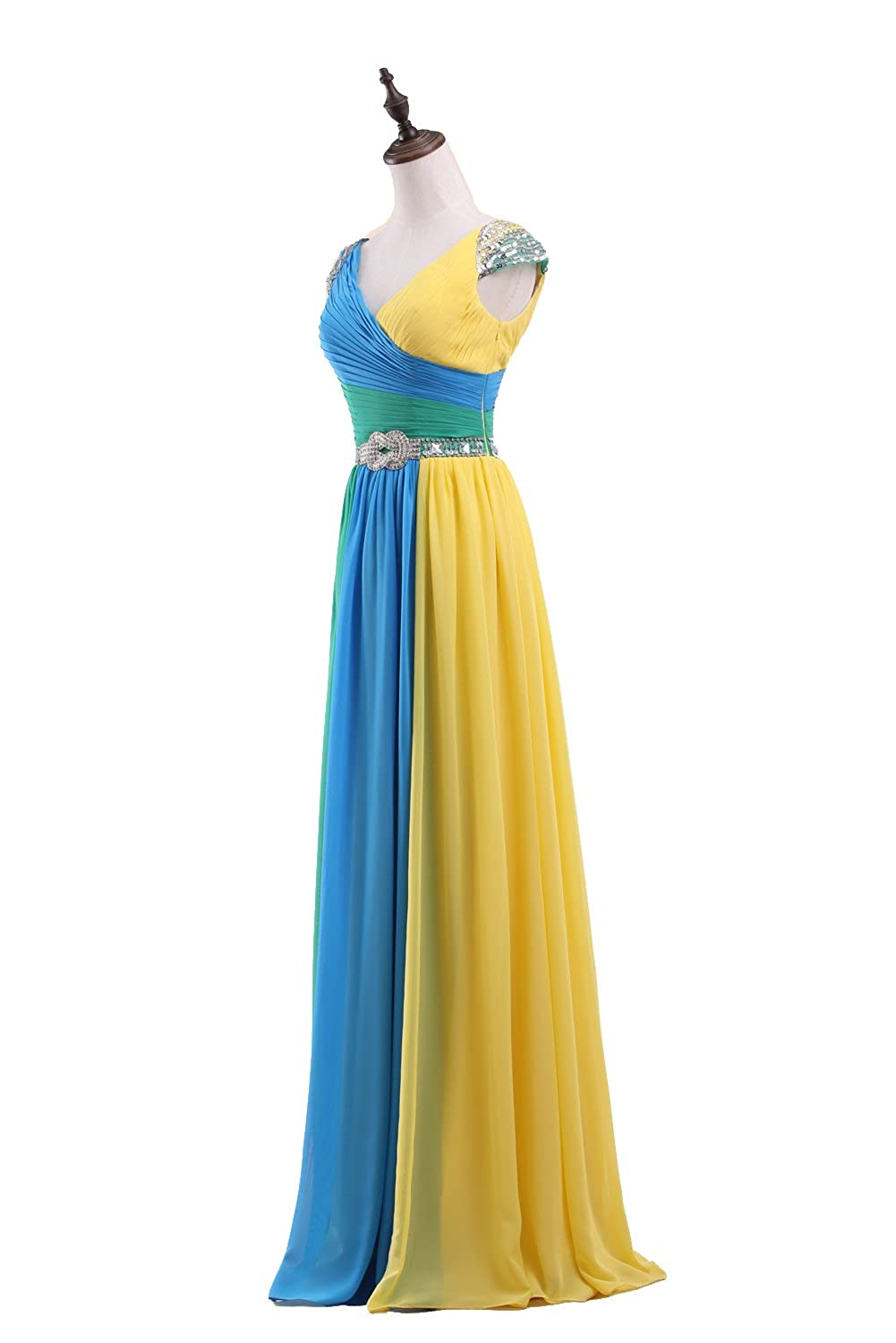 Zvocy Womens Sweetheart Ombre Prom Dress Long Evening Gradient