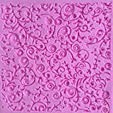Anyana square sugar edible vine lace mold cake silicone Embossing Mat Textured fondant impression lace mat decorating mold gum paste cupcake topper tool icing candy imprint baking pastry sugarcraft