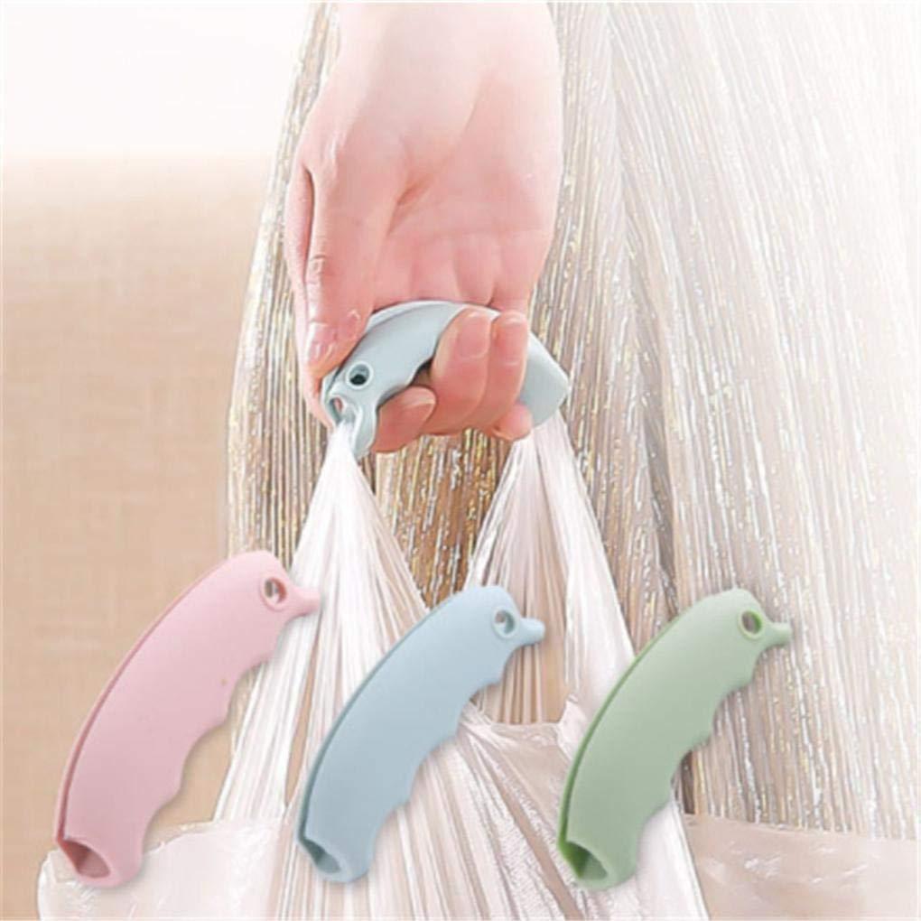 2pc Grocery Shopping Bag in Silicone Holder Maniglia di Sollevamento Easy Grip di Trasporto Strumento Antiscivolo Le scanalature Carrier Surface