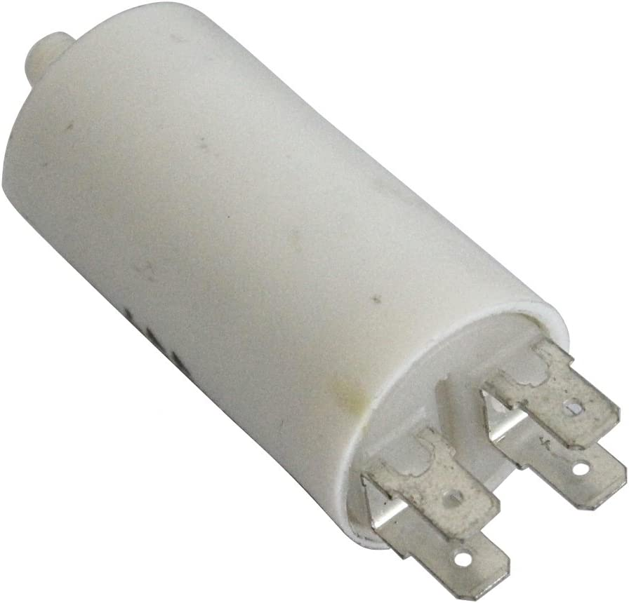 Aerzetix Condensatore di marcia e avviamento motori elettrici monofase 425V da 6,3mm a 5/µF C10189