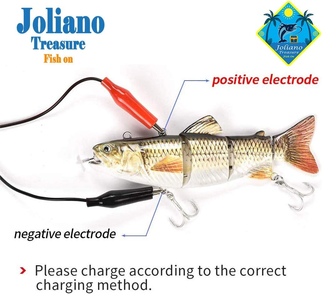 Custoo Fishing Electric Lures Lifelike Robotic Swimming USB Rechargeable LED Light Fishing Spinnerbait Fishing Lures Kit for Bass Catfish Pike Muskie Large Fish