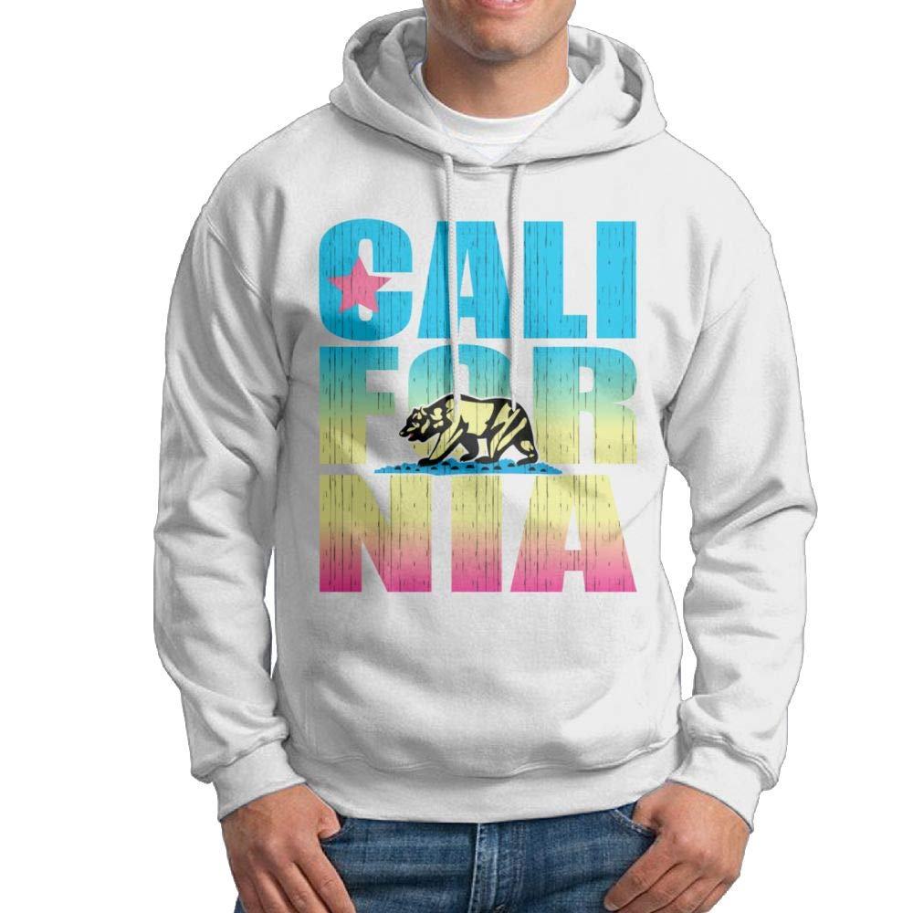 Arsmt Hooded Sweatshirt Men Classic Pullover Hoodie California Colorful Bear