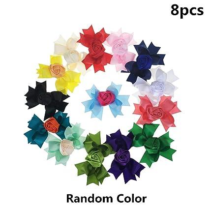 color al azar 5 pinzas para el pelo para ni/ñas y beb/és accesorios para el pelo Frcolor