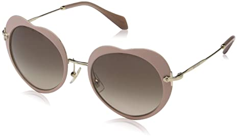 fceaa4523e03 Image Unavailable. Image not available for. Colour  MIU MIU Abstract Heart  Sunglasses in Matte Pink MU ...