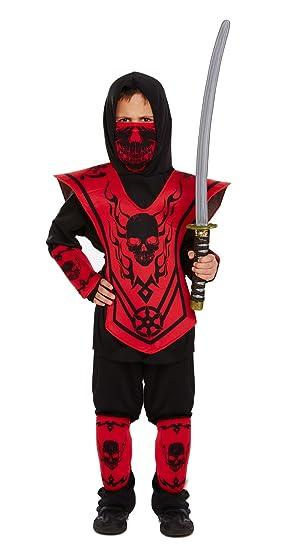 Henbrandt Disfraz de Ninja Infantil Talla pequeña Edad 4 - 6 años