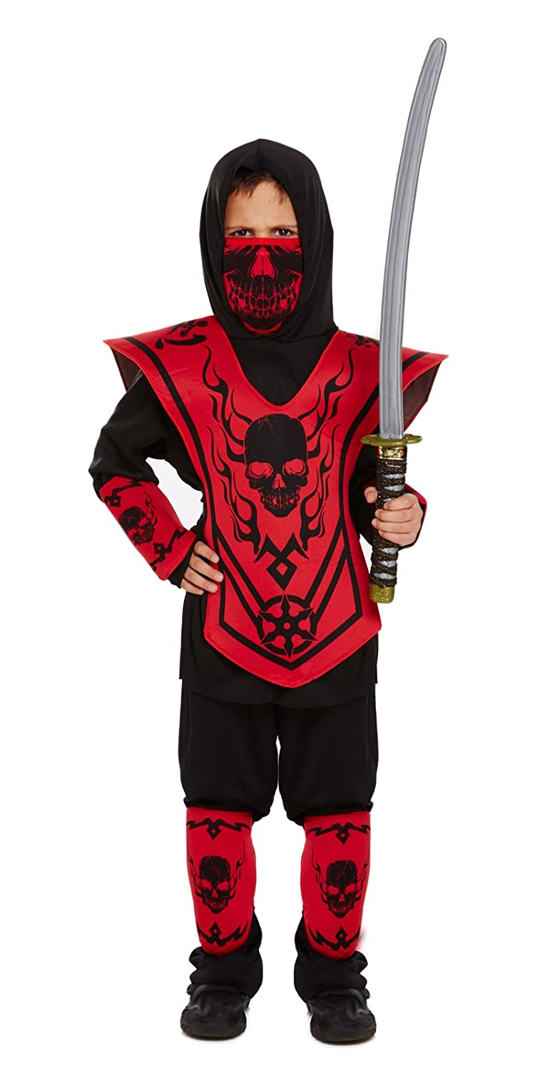 Amazon.com: Ninja Kids Fancy Dress Outfit - Ages 4-12 Years ...