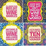 Women Cocktail Napkins Wine Themed Variety Pack 40 total paper napkins assorted