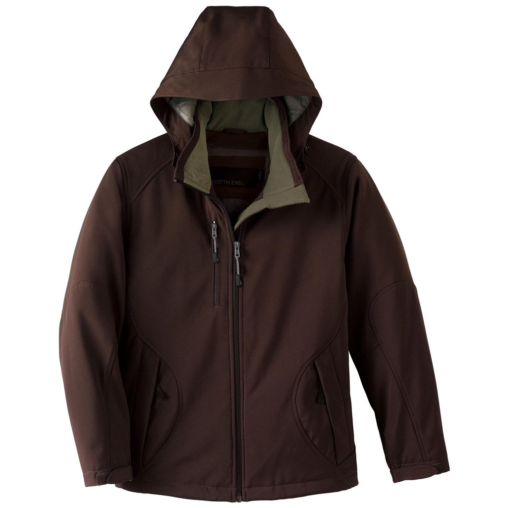 Ash City Ladies Glacier Soft Shell Jacket (X-Small, Dark Chocolate)