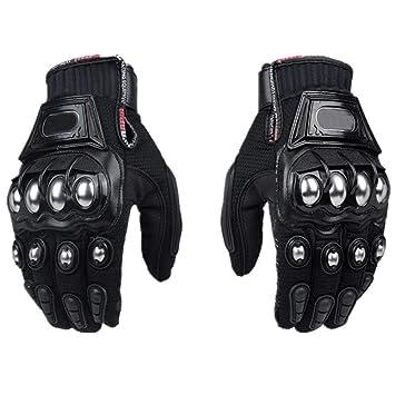 Steel Outdoor Brass Knuckle Motorcycle Motorbike Powersport Racing Safety Gloves