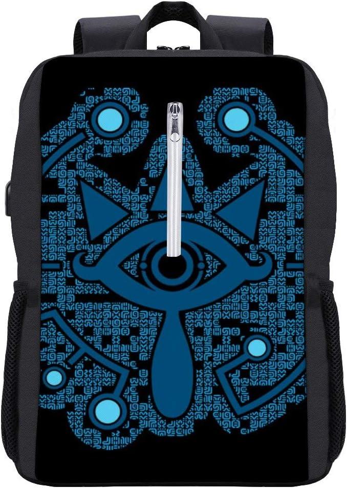 Legend of Zelda Magic Sheikah Slate Backpack Daypack Bookbag Laptop School Bag with USB Charging Port