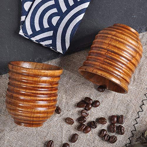 Gotian New Wooden Cup Log Color Handmade Natural Wood Coffee Tea Beer Juice Milk Mug,Natural Jujube Wood, Healthy and Natural,Small Teacup