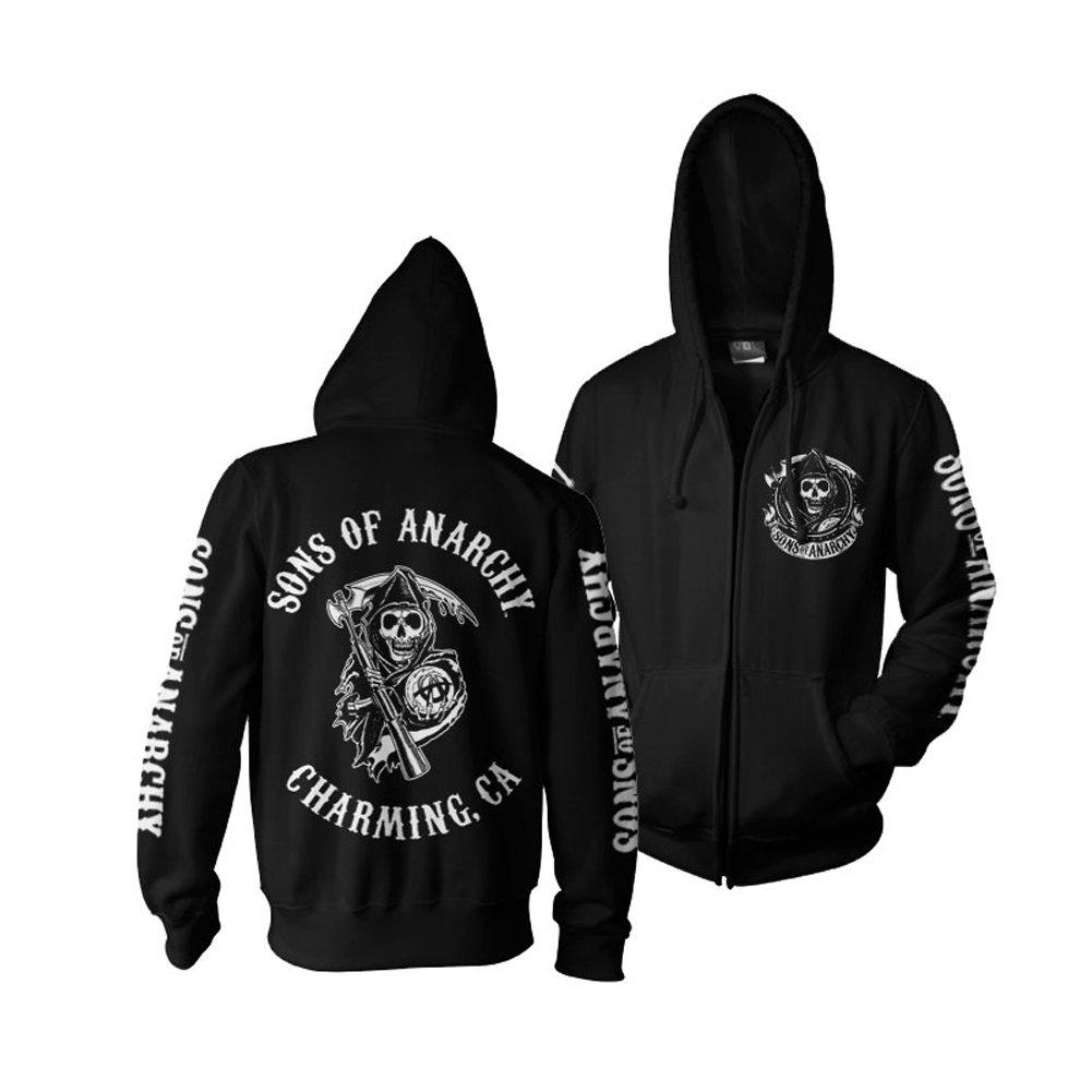 TALLA XL. Sons of Anarchy - Sudadera con capucha - Manga Larga - para hombre