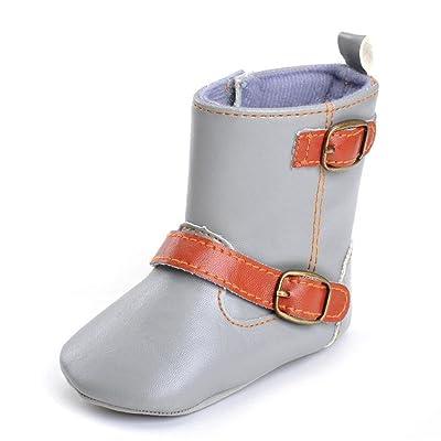 Bottes de berceau Chaussures Cuir PU Souple Bébé Garçons Filles, QinMM Enfant Nouveau-né Bambin Chaud Sport