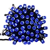 Qedertek Fairy Decorative Solar Powered String Lights, 39ft 100 LED Christmas Lights for Indoor and Outdoor, Home, Lawn, Garden, Wedding, Patio, Party and Holiday Decorations (Blue)