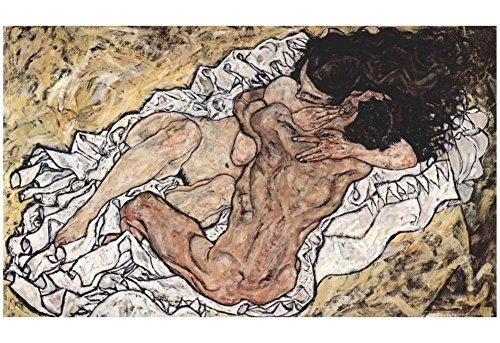 Egon Schiele The Embrace The Lovers Art Poster Print
