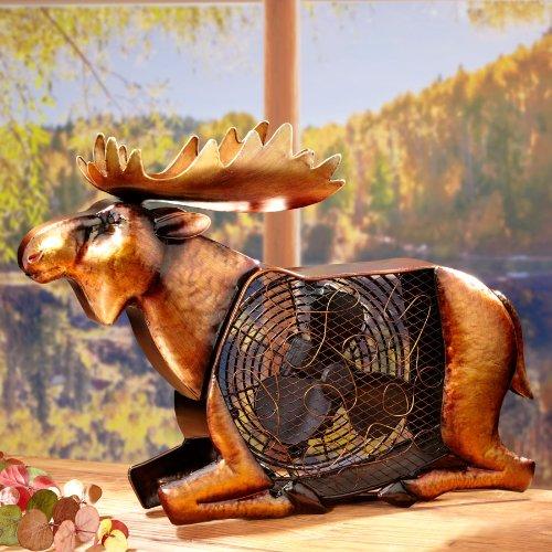 Deco Breeze Moose Figurine Fan