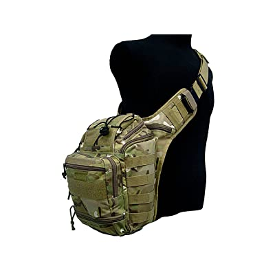 Tactical Utility Gear Shoulder Sling Pack Bag Airsoft Military Cycling CP