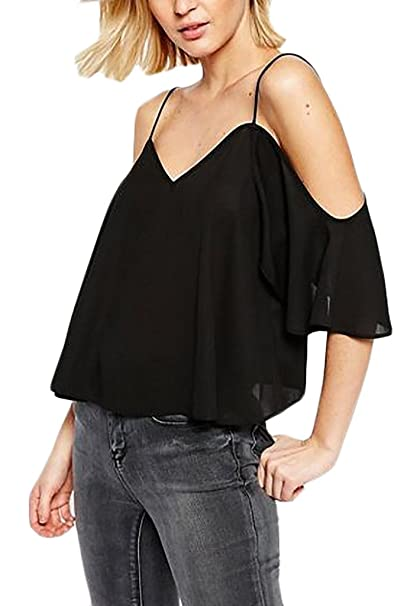 meet 8744a 83848 Lannister Fashion Donna Camicia Chiffon Elegante Estivi A ...