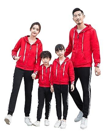 TAAMBAB 2 Piezas Familia Chándal Traje Family Outfits - Parent-Child Clothes para Adulto Mujer Hombre Niños Suaves y Cómodos Cálidos: Amazon.es: Ropa y ...
