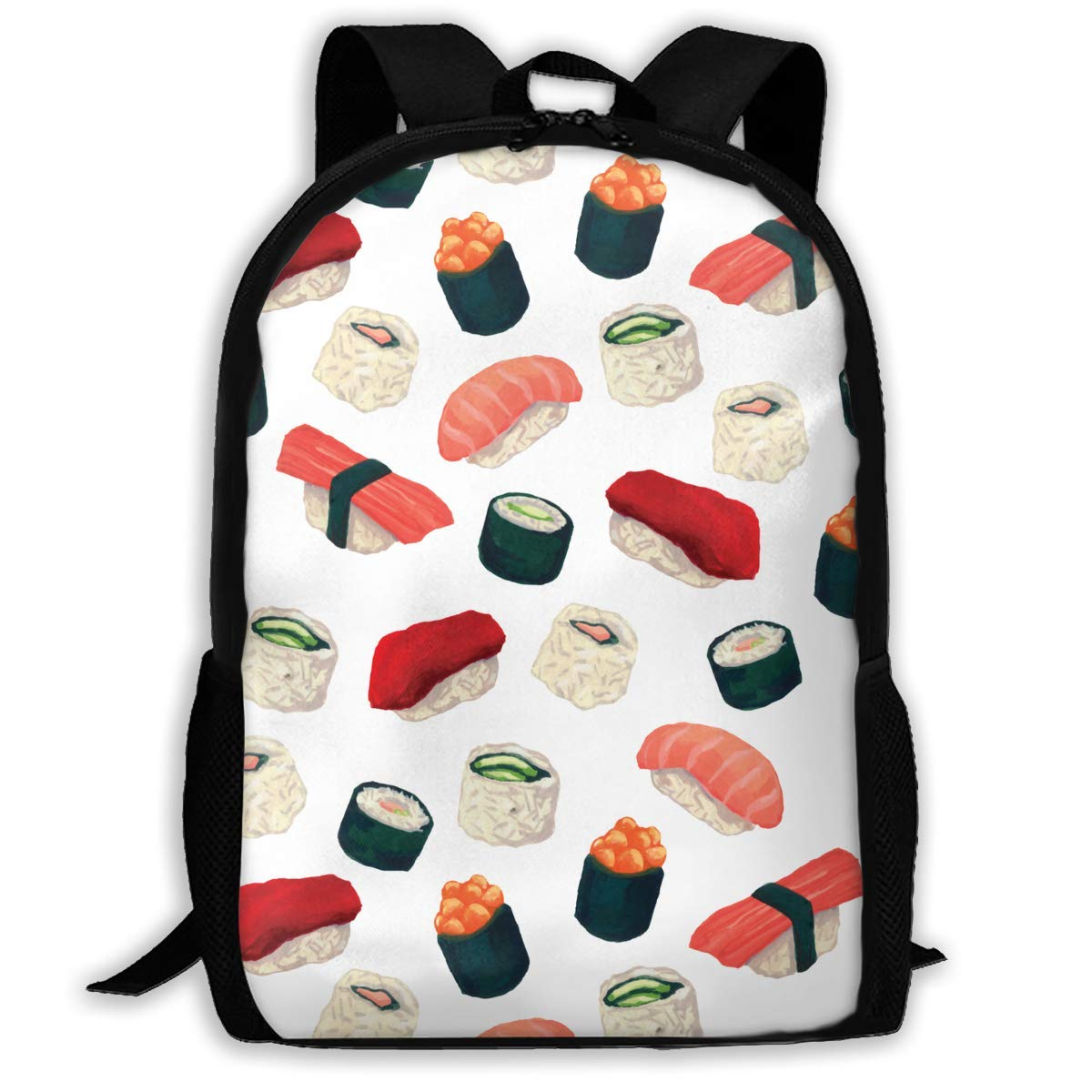 jhguihuyftyrtytgjkh Casual Backpack Japanese Sushi 3D Printing School Bags for Boys Girls Unisex Adult Shoulder Bag ILY Bag Outdoor Orts