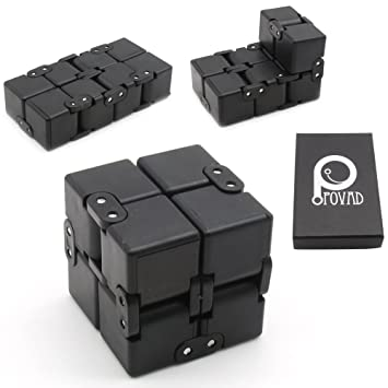 infinity cube. fidget cube in style with infinity pressure reduction toy - turn spin edc n