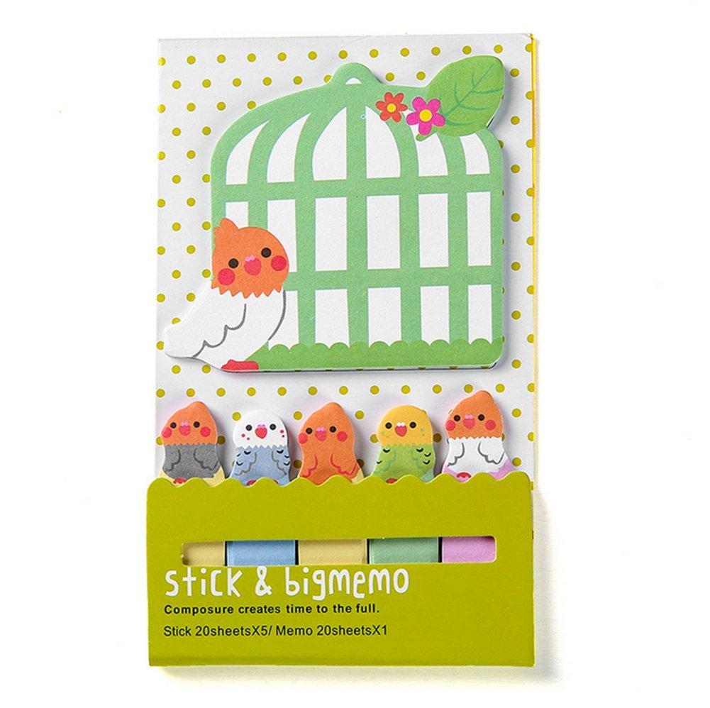 Spaufu per scuola e ufficio 7.5*13cm Cat bigliettini promemoria e segnapagina adesivi