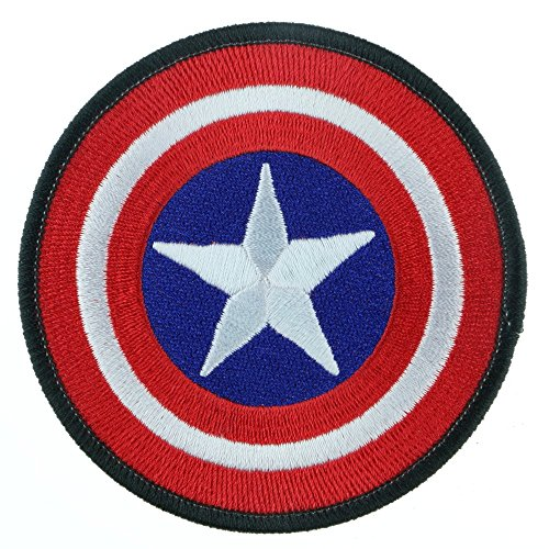 Iron Sew on Applique Patch : Captain America (Red)