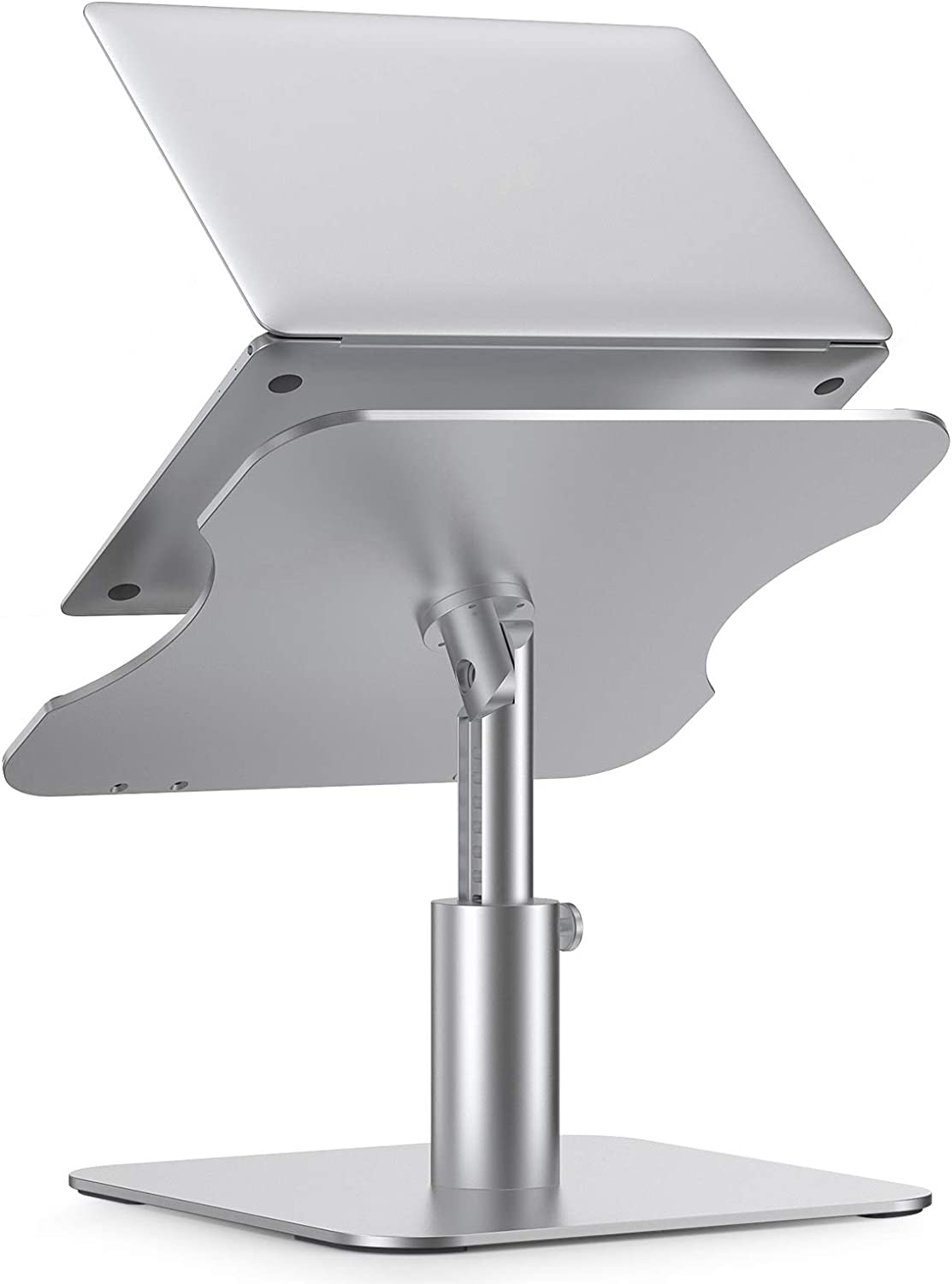 Adjustable Laptop Stand Holder for Desk Apple MacBook/Air/Pro/Dell/HP and Lenovo, Laptop Riser with 360°Rotation Multi-Angle Height Adjustable Computer Stand for More Notebooks 10-17
