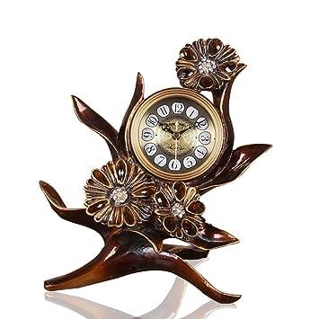 FOOFAY relojes de chimenea familiares Reloj de sobremesa retro, reloj de péndulo junto a la cama ...