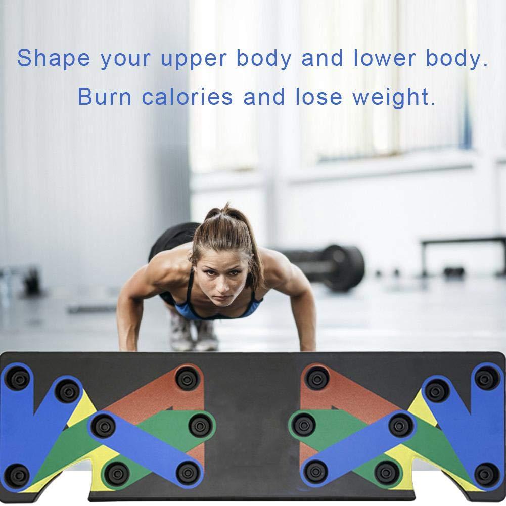 evergremmi Multi-Position-Push-Up-Board , Push-Up-Rack-Board-System Fitness Train Fitness-Studio Steht zu Hause Fitnessger/äte Power Trainer