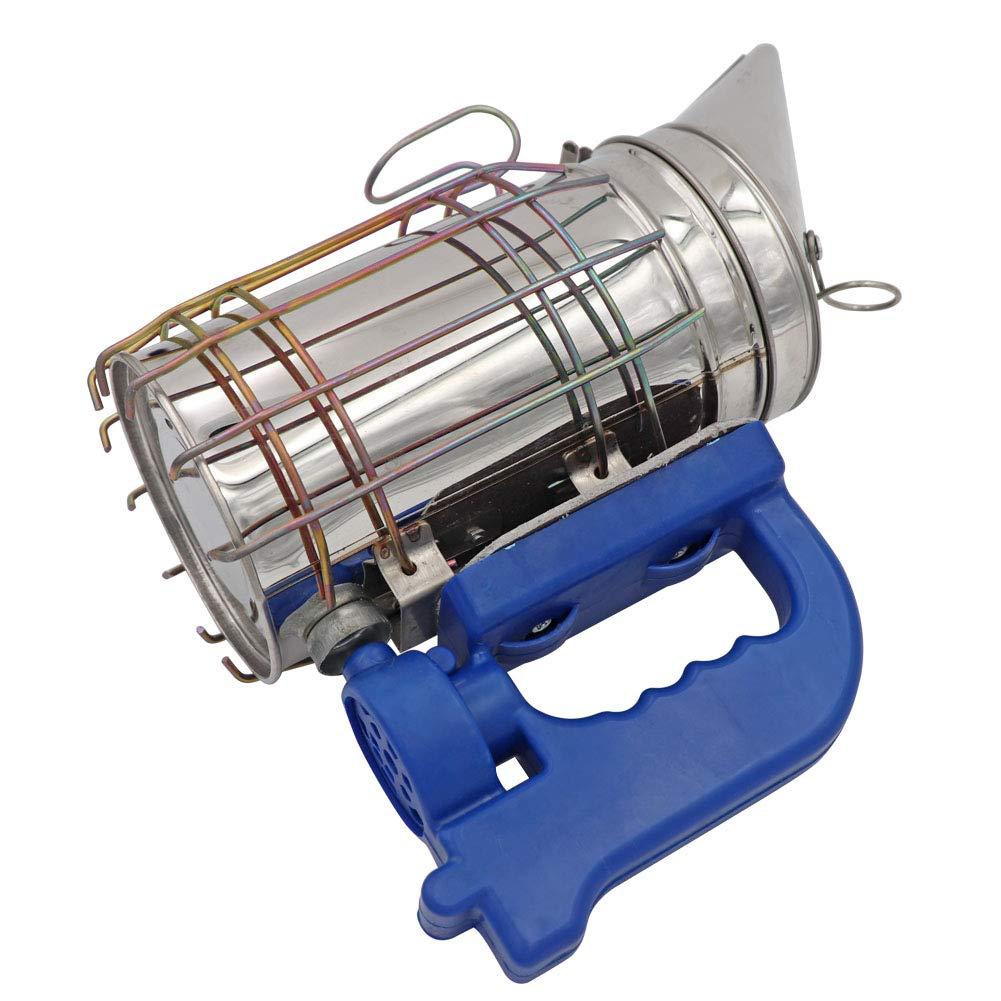 M.Z.A elettrico ape alveare fumatore in acciaio inox spruzzatore di fumo con scudo termico alveare fumatore fumi macchina apicoltore