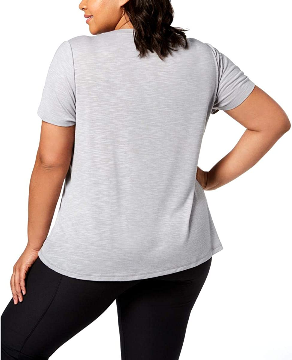 Ideology Womens Plus Fitness Workout T-Shirt