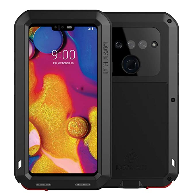 the best attitude afb58 41ffb LG V40 ThinQ Case, LG 40 Case Heavy Duty, Armor Aluminum Alloy Metal Case  Cover Bumper Hybrid Soft Rubber Military Shockproof Outdoor Hard Defender  ...