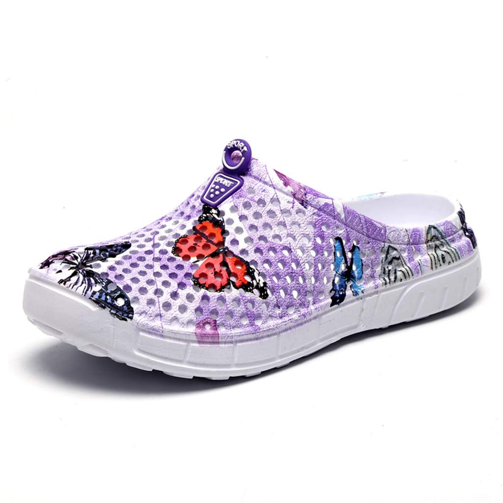 Women Slippers Flip Flop Summer Beach, Ladies Butterfly Sandals Hollow Casual Breathable Flats Water Shoes