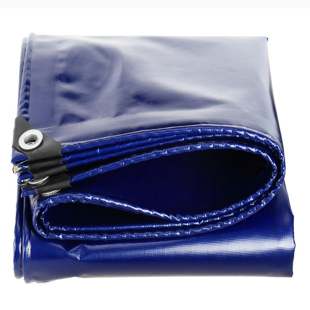 CHAOXIANG オーニング 厚い 折りたたみ可能 両面 防水 アンチサン 不凍液 耐高温性 アンチエイジング 耐摩耗性 PVC ブルー、 550g/m 2、 厚さ 0.45mm、 16サイズ (色 : 青, サイズ さいず : 6×6m) B07D34WMRK  青 6×6m