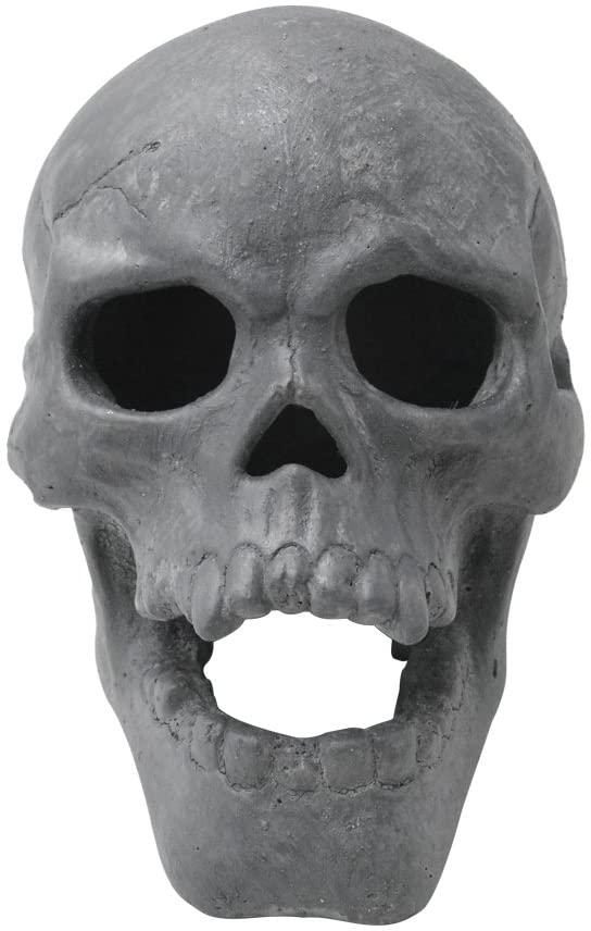 Stanbroil 9-Inch Imitated Human Skull Gas Log for Indoor or Outdoor Fireplaces, Fire Pits Halloween Decor, 1-Pack - Patent Pending