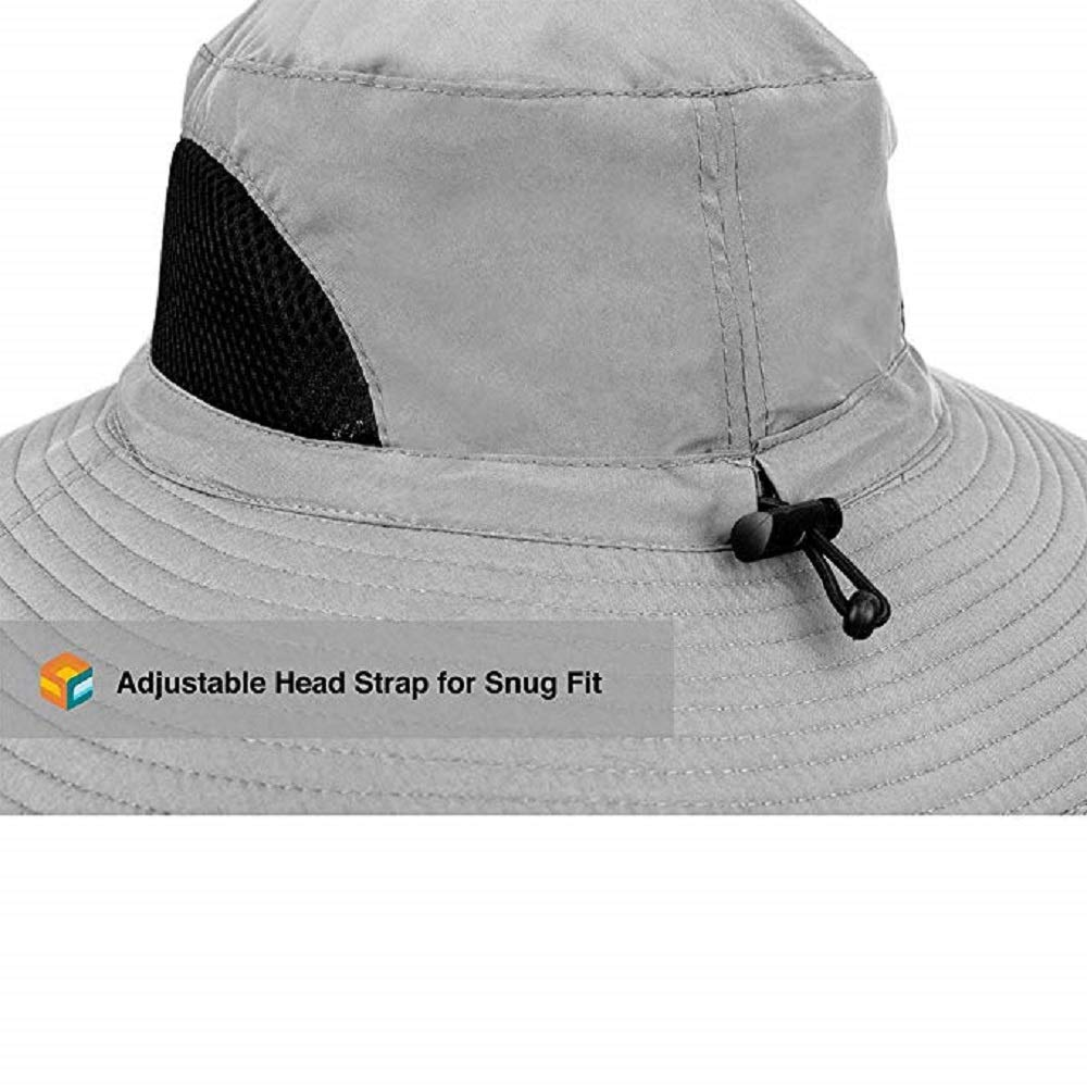 83bb33dbd Sun Cube Premium Boonie Hat | Wide Brim Adjustable Chin Strap | Outdoor  Fishing, Hiking, Safari, Summer Bucket Hat | UPF 50+ Sun Protection |  Packable ...