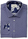 Ted Baker Men's Hilt Slim Fit Dress Shirt, Navy, 15.5'' Neck 34''-35'' Sleeve