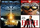 Hancock & Hitch + Independence Day Sci-Fi Action / Comedy Will Smith DVD Movie Set iD4