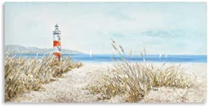 """Beach Lighthouse Pictures Wall Art : Seascape Canvas Wall Decor Lighthouse Wall Decor for Living Room Wrap Ready to Hang (20""""x40""""x1Panel)"""